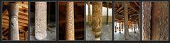 Chiva - Juma-Moschee -  Innenraum - Säulen