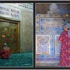 Chiva - Mausoleum Pakhlavan Mahmud - Betende