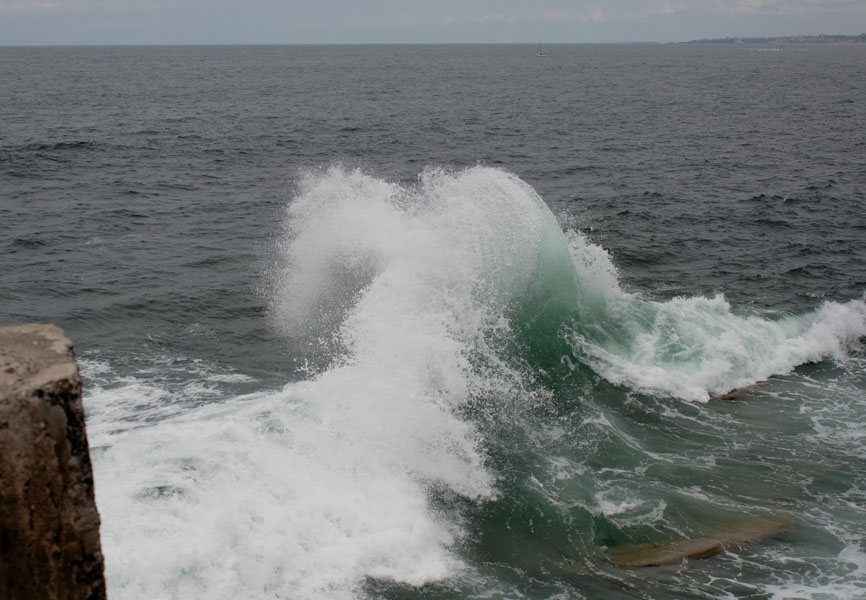choc de vagues