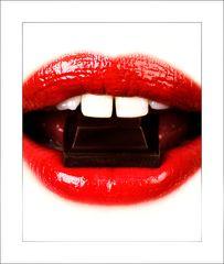 chocolate and lips