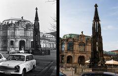 Cholerabrunnen und Porzellanausstellungsgebäude Sophienstraße Dresden 1982-2014