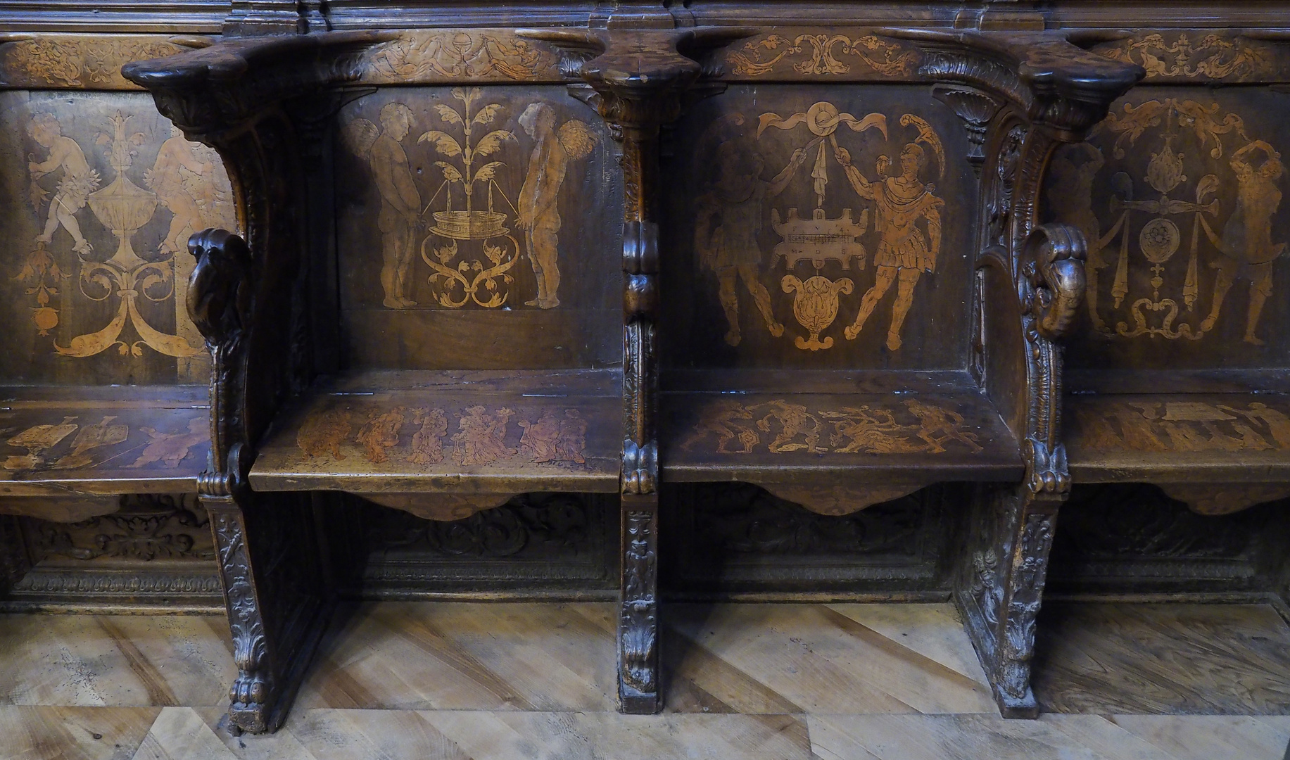 Chorgestühle in der Kathedrahle von Burgos