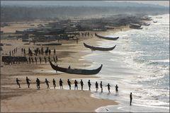 Chowara fisherman's beach