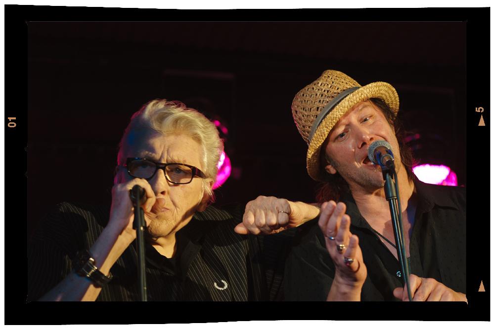 Chris Farlowe und Gerd Lange (Hamburg Blues Band)
