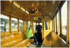 Christchurch - Tram (Innenansicht)