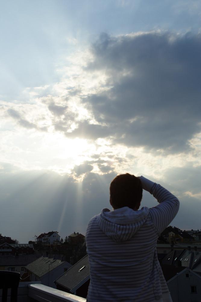 Christiane in sunset