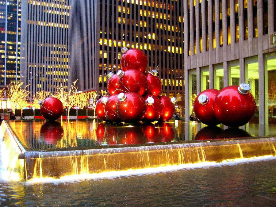 Weihnachtsbilder New York.Christmas In New York City Foto Bild North America United