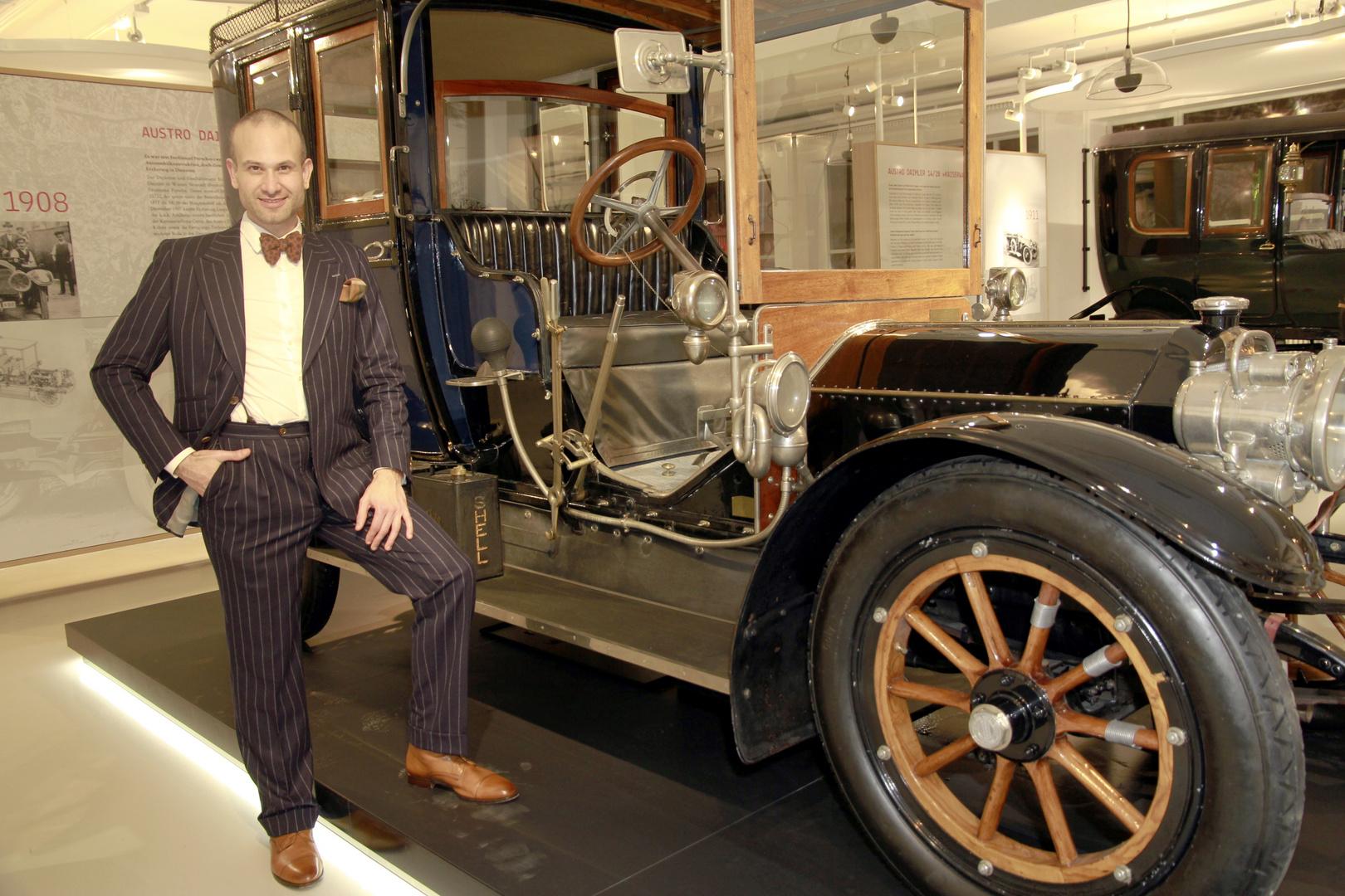 Christoph Sauer im Porsche Oldtimer Museum