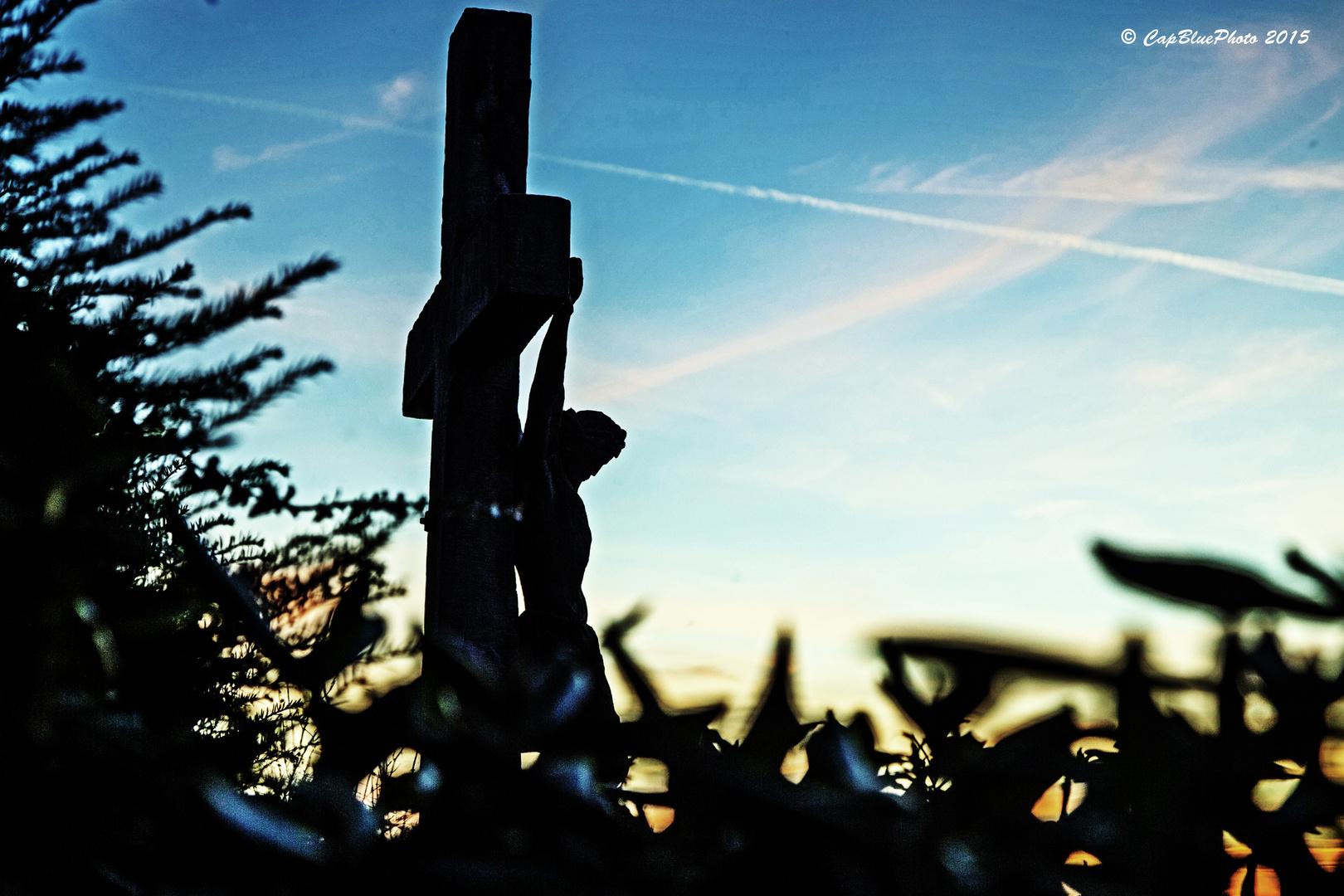 Christus Denkmal in den Weinbergen bei Bühl-Eisental