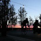 ciclista di notte