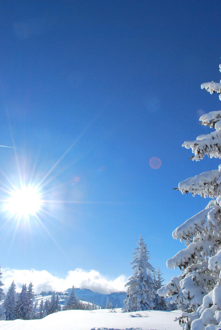 Cieil bleu en altitude