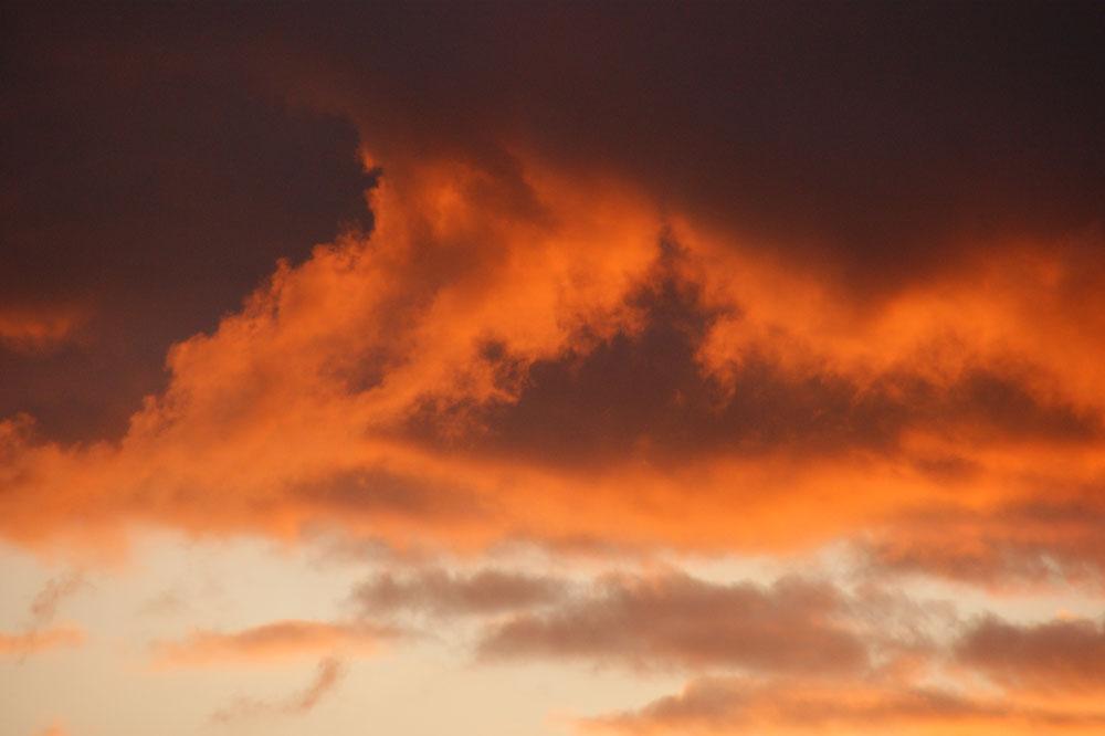 ciel au coucher de soleil