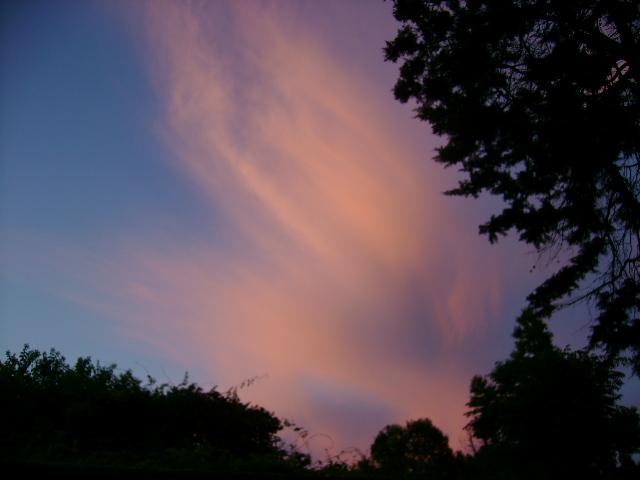 Cielo al atardecer mirando al oeste
