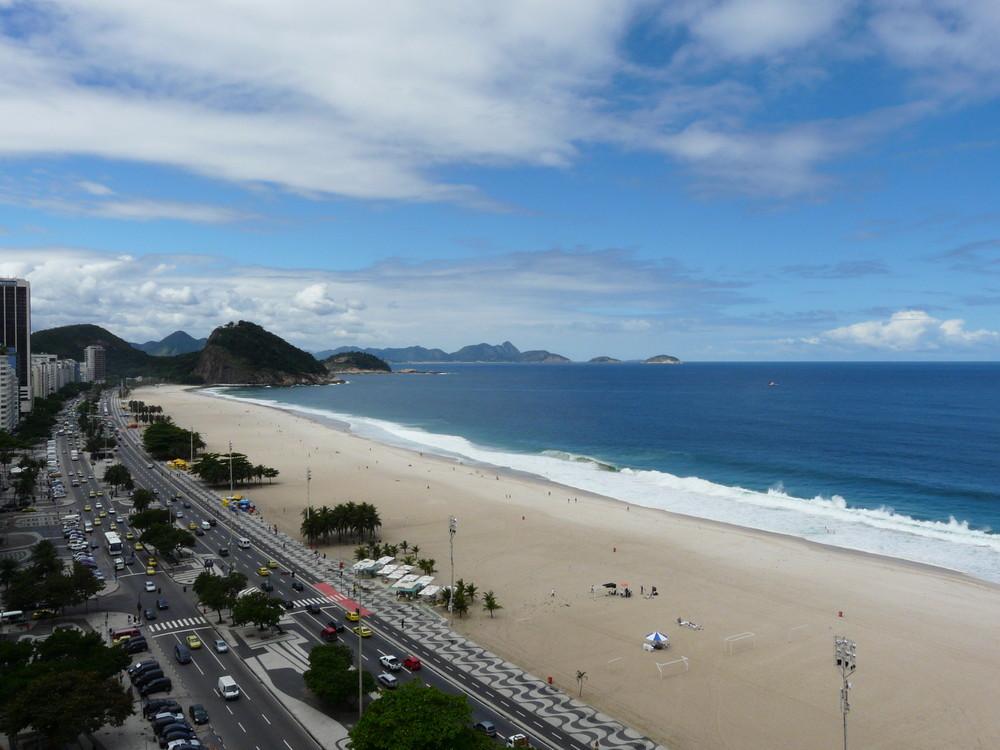 Cielo azul en Copacabana