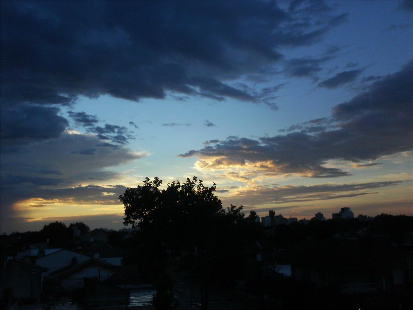 Cielo con tormenta