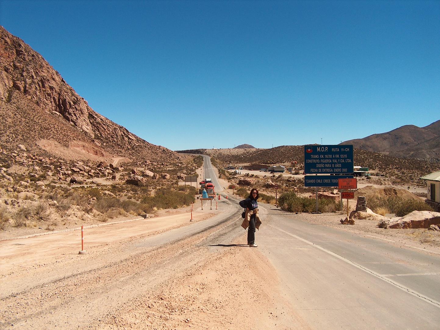 Cile deserti montani Aspettando un pulman