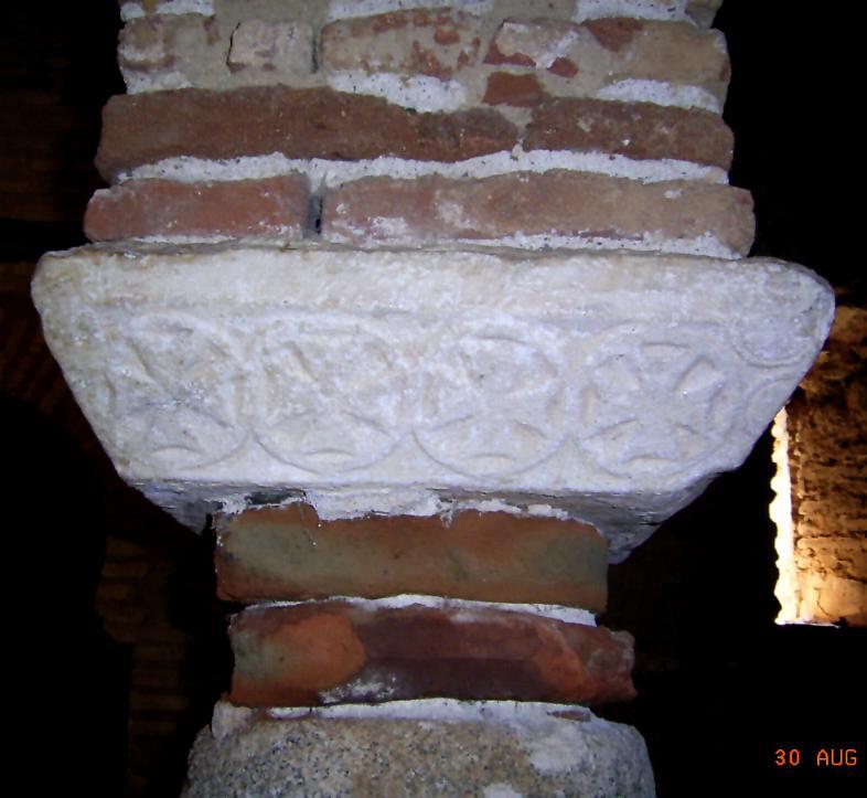 Cimacio visigodo. Mezquita de Almonaster