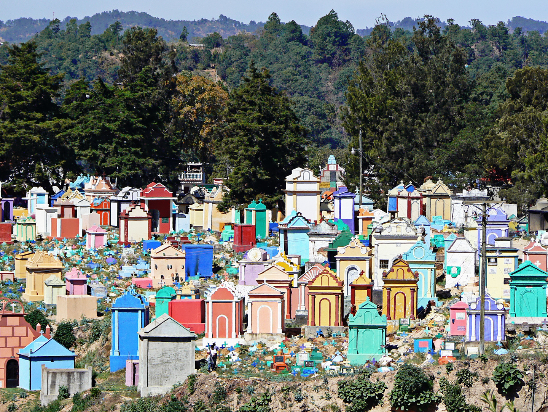 cimetière multicolore