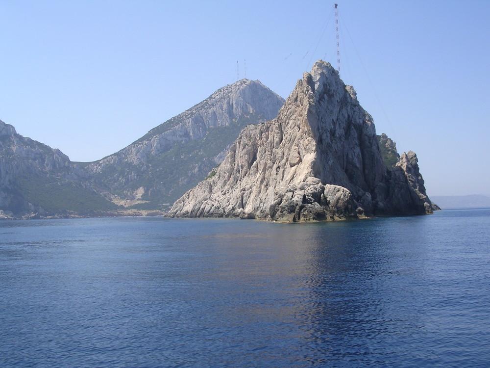 ciò che non si può vedere da terra dell'Isola di Tavolara Sardegna.