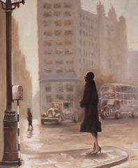 City in the Rain - An homage to Francesc Catala Roca