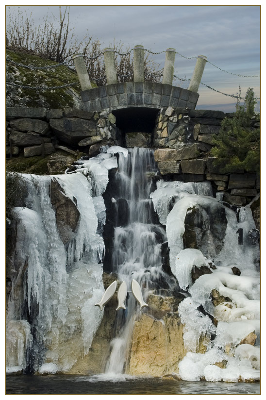 City waterfall, Kristiansund flowing again....