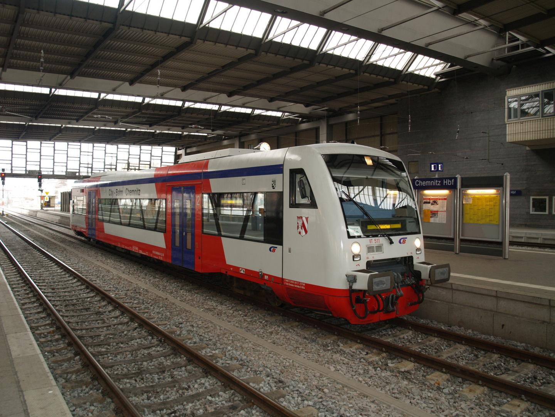 Citybahn Chemnitz Foto Bild Eisenbahn Privatbahn Verkehr