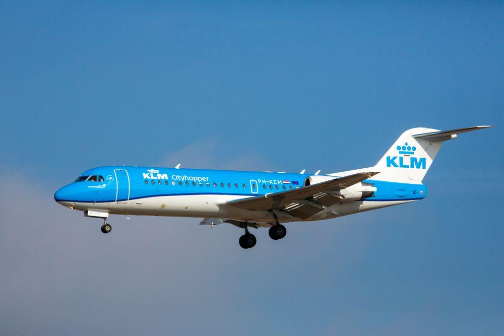 """""""Cityhopper"""" Fokker 70 der KLM"""
