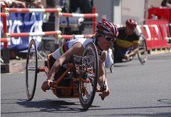 Citylauf - Handbiker - die Siegerin beim Rennen