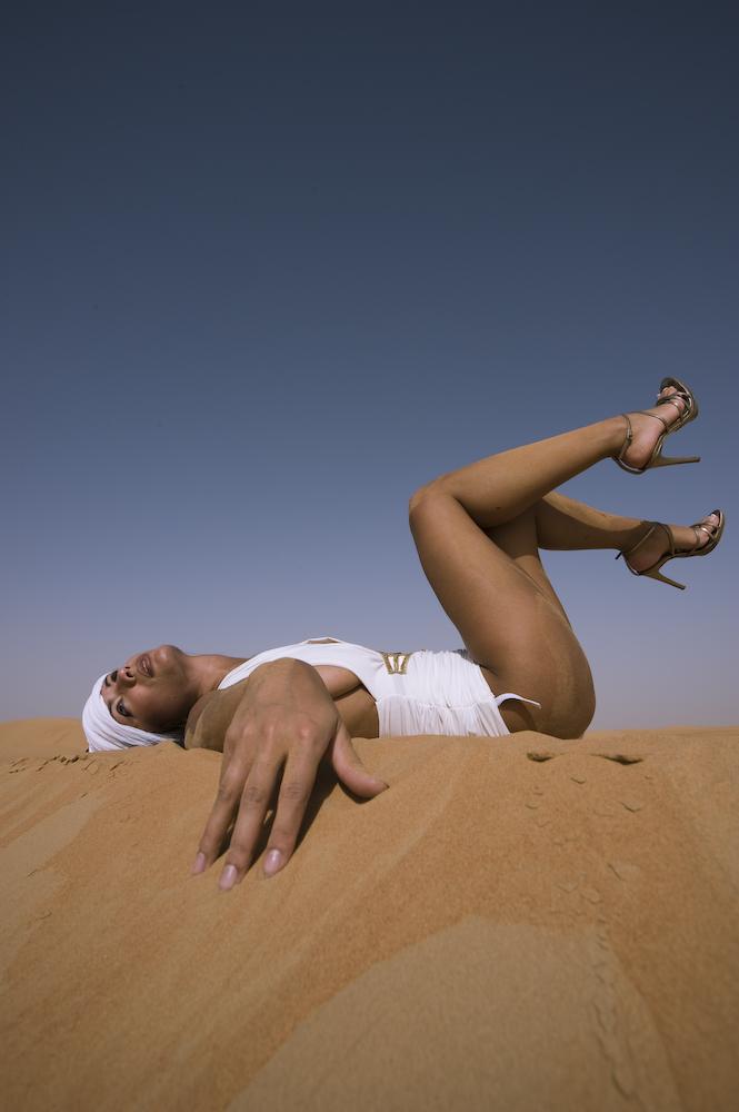 clarita on sand dune 2