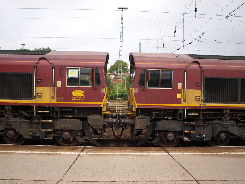 "Class 66 der ""Englisch Welsh & Scottich Railway"""