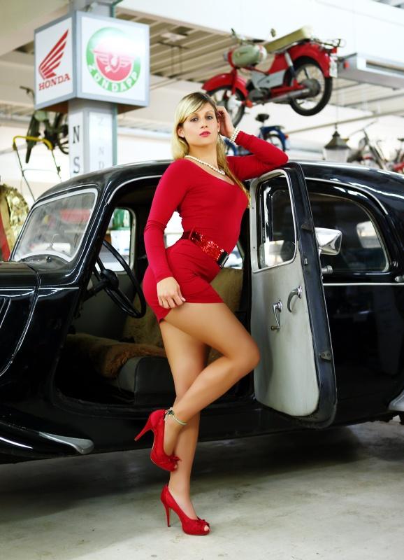 Classic Car & beautiful Girl