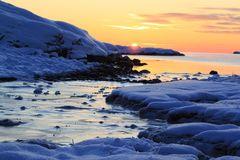 Classic winter sunset