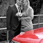 Claudias Hochzeit - mit dem roten Auto