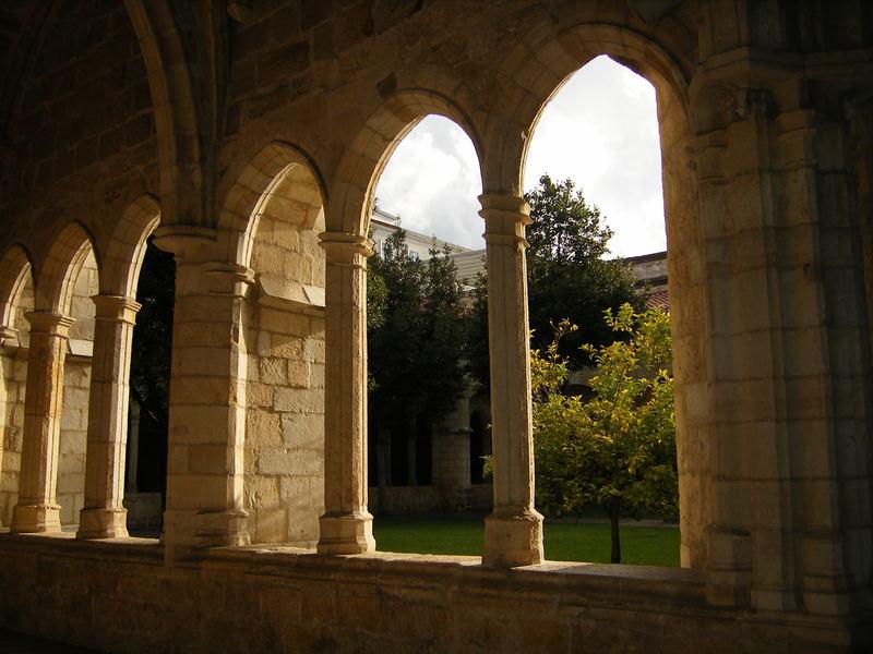 claustro de la catedral de Santander