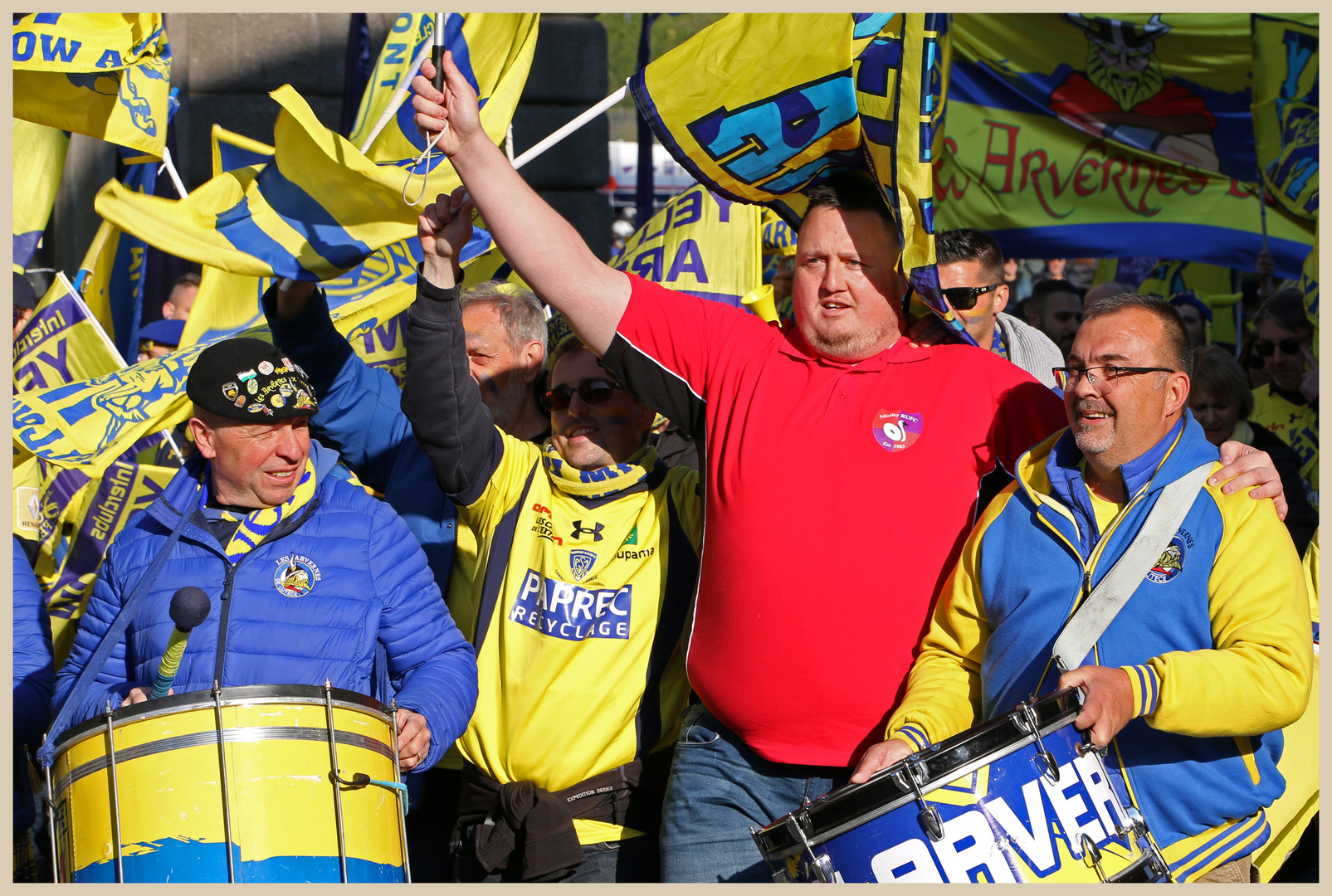 Clermont rugby fans 11 in newcastle