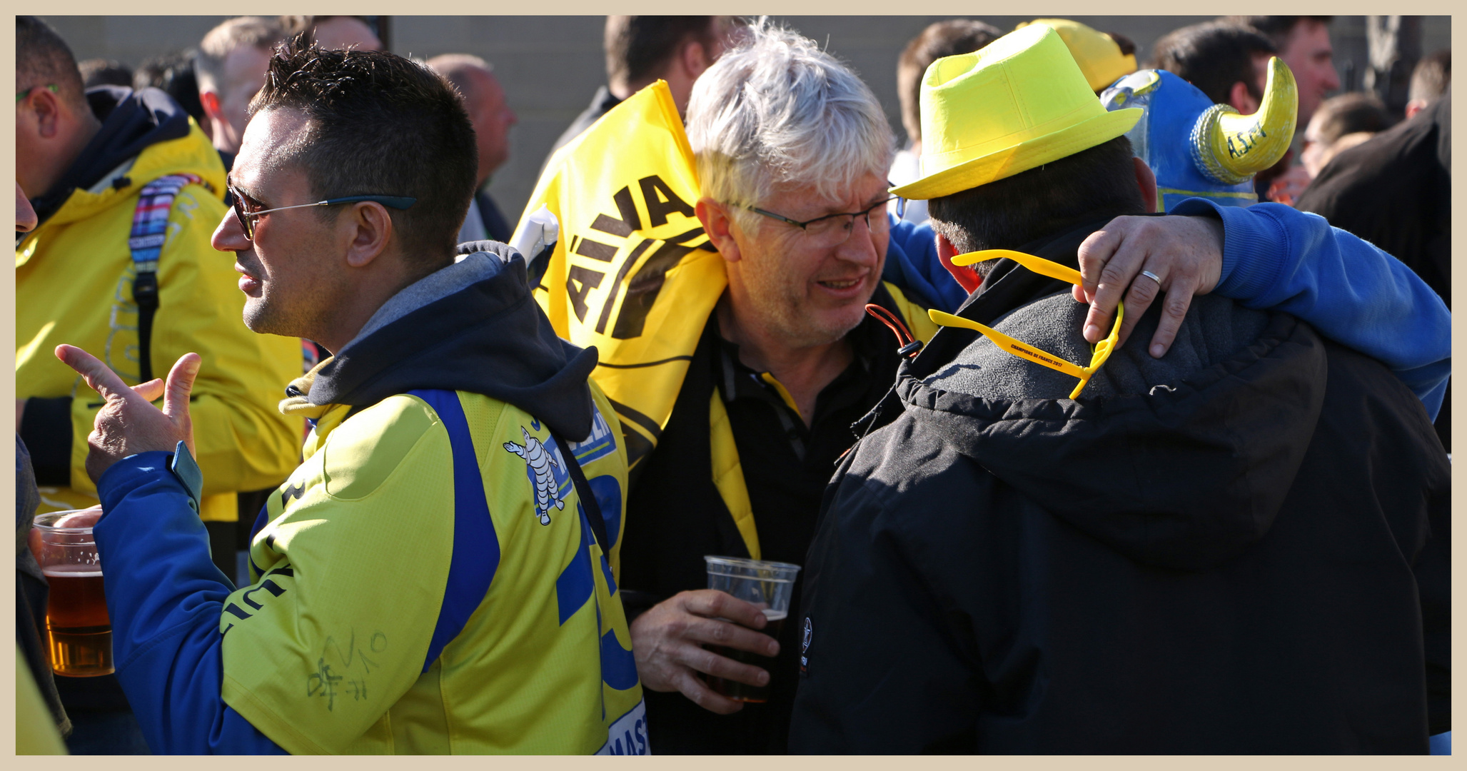 Clermont rugby fans 32 in newcastle