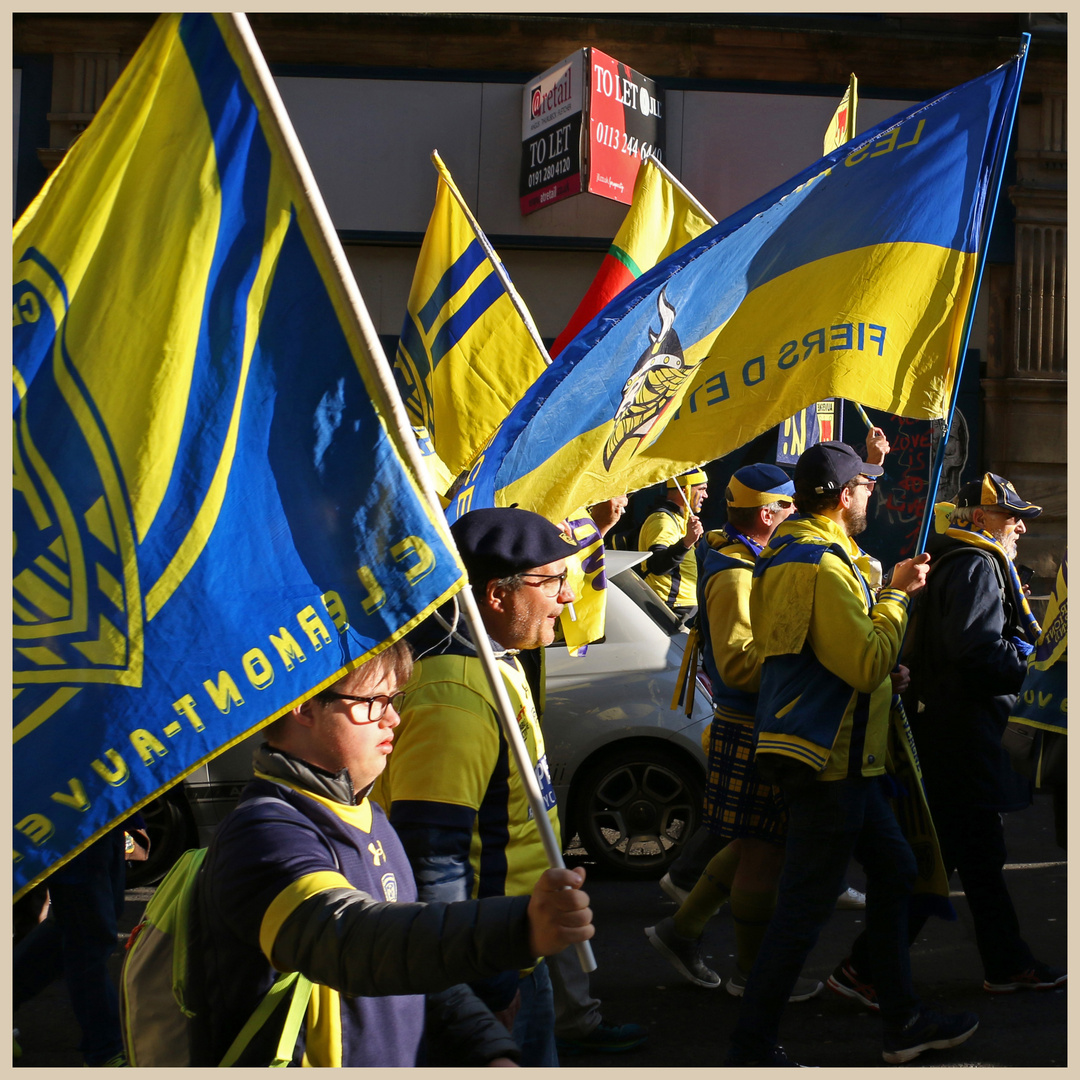 Clermont rugby  fans 43 in newcastle