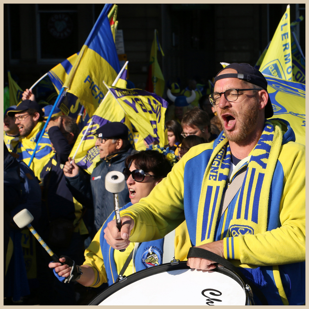 Clermont rugby fans in newcastle