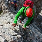 Climbing to Corno Grande