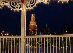 Clock Tower at Christmas 2