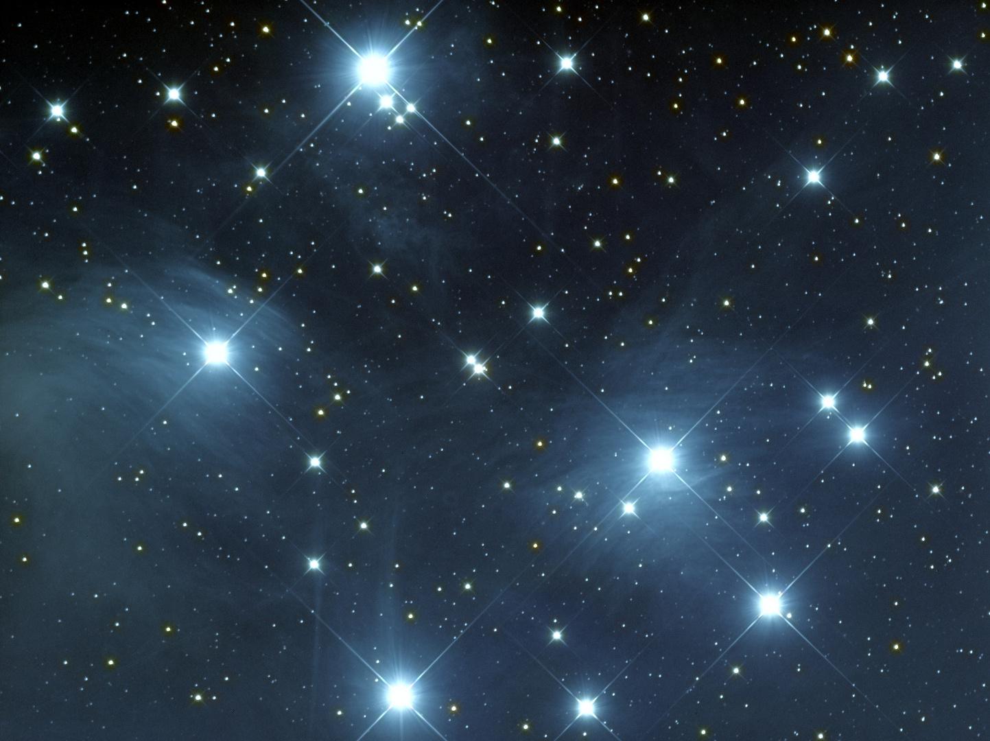 close up der Plejaden (Messier 45)