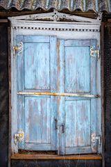 closed window, vilnius, lithuania