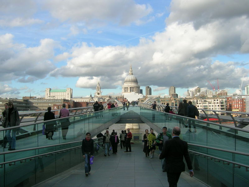 Clouds above St. Paul's cathedral