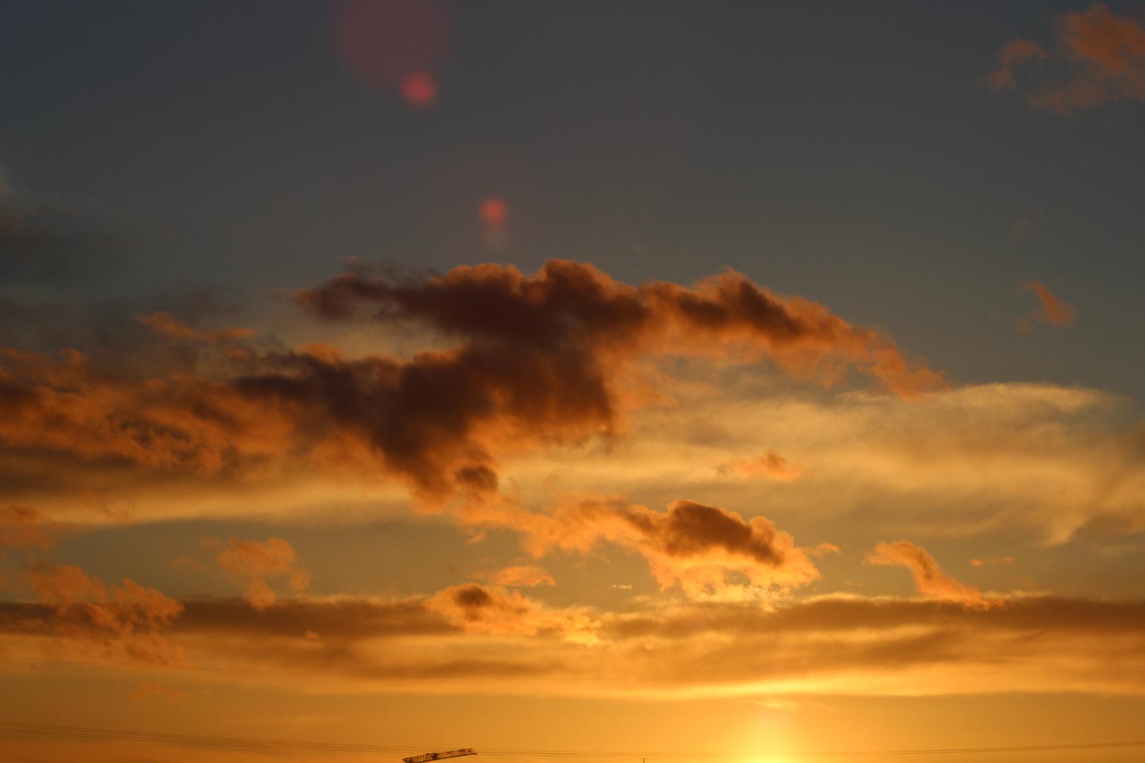 Clouds in Orange