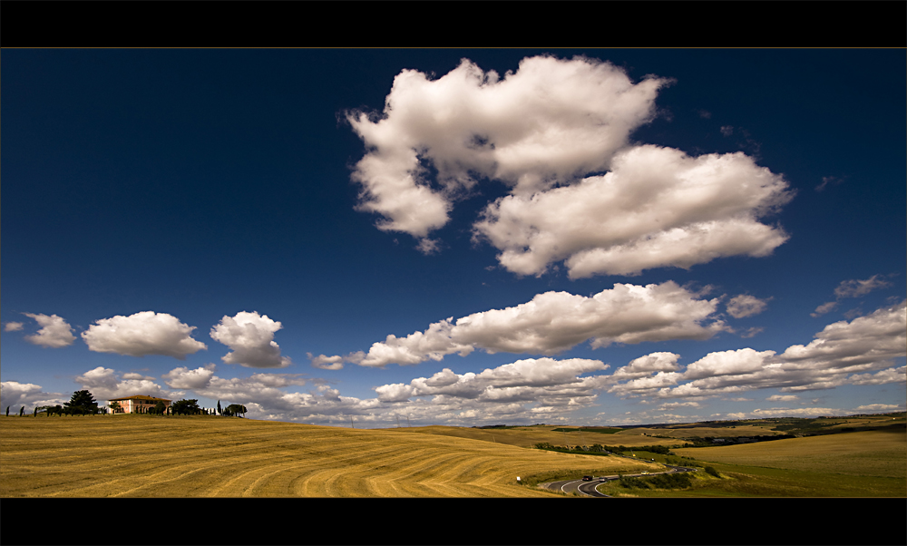 clouds in tuscany
