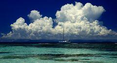 Clouds over Mahe Island 2
