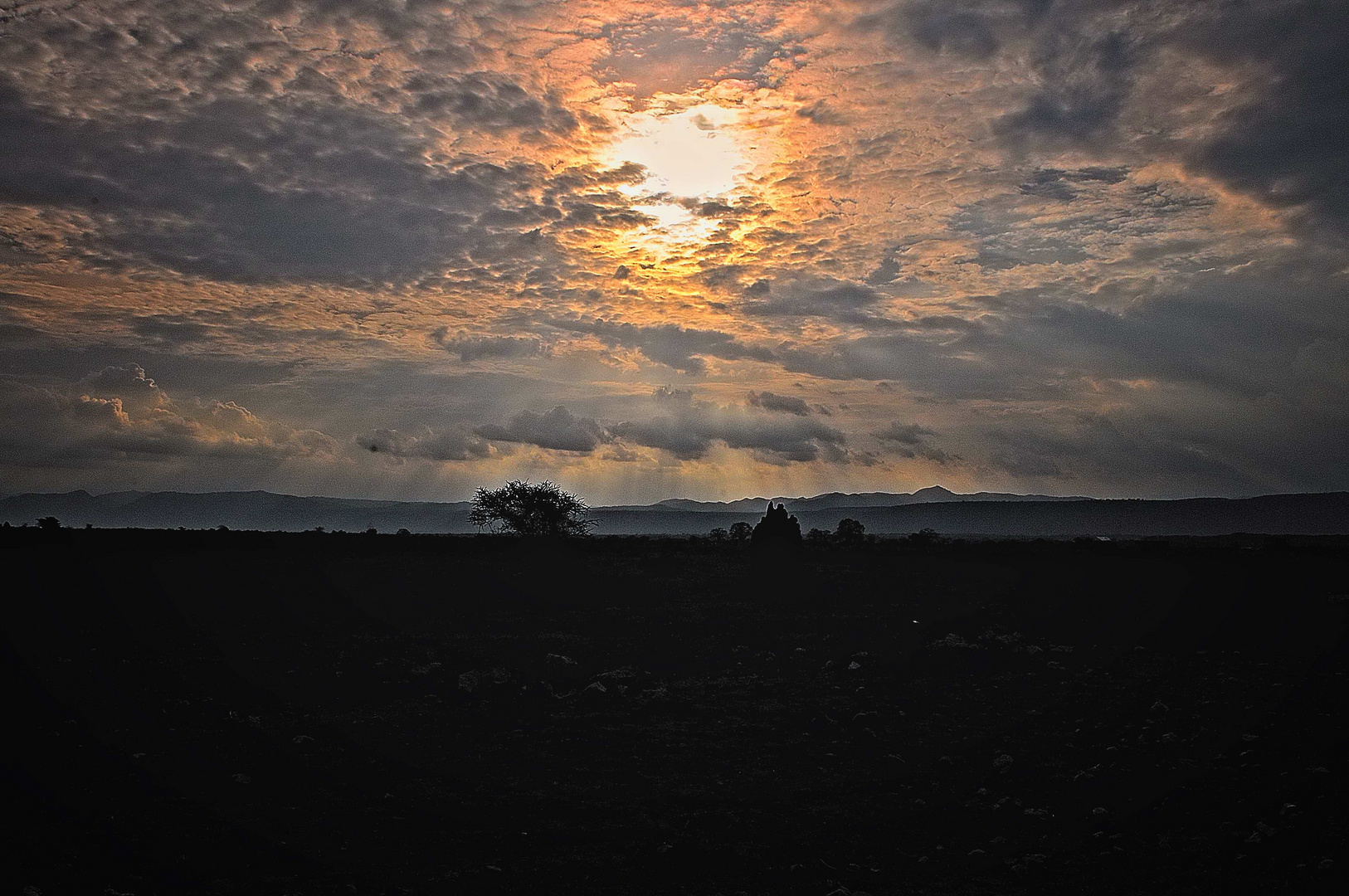 Cloudy Sunset in Africa