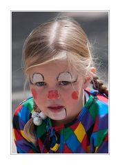 Clown in tegenlicht