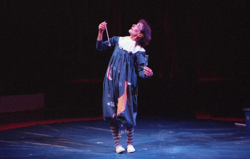 Clown mit Seifenblasen