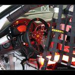 Cockpit eines Race-Porsche